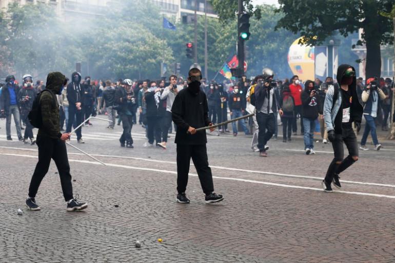Paris : des opposants à la loi Travail dans les rues de la capitale