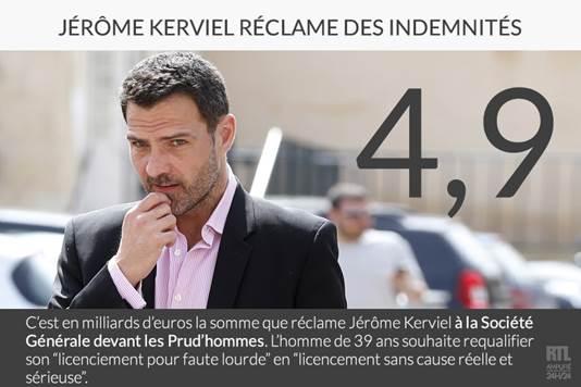Jérôme Kerviel réclame des indemnités