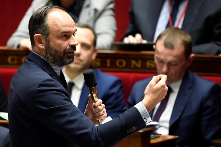 Le Premier ministre Édouard Philippe à l'Assemblée le 21 janvier 2020.