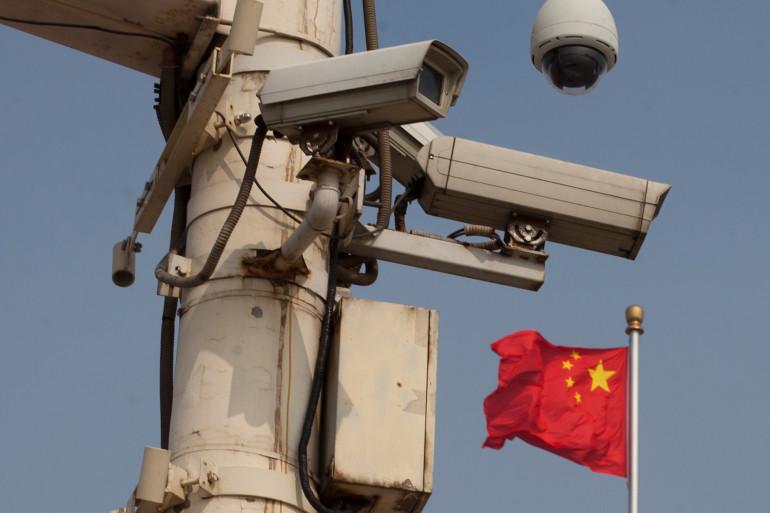 Illustration de caméra de surveillance en Chine