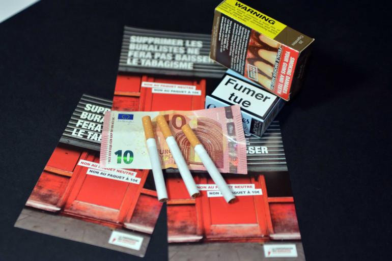 Un paquet de cigarette neutre à 10 euros (illustration)