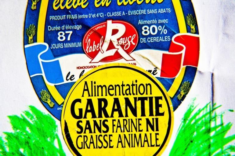 """Un produit avec le logo """"Label Rouge"""""""