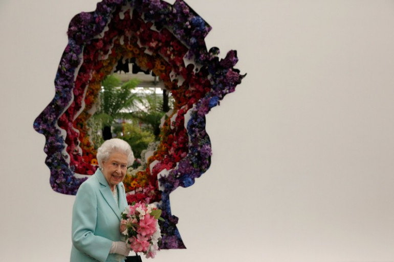 La Reine Elizabeth II au Chelsea Flower Show de Londres 2016