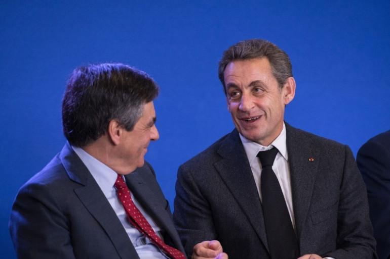 François Fillon et Nicolas Sarkozy, le 18 mars 2015 à Paris