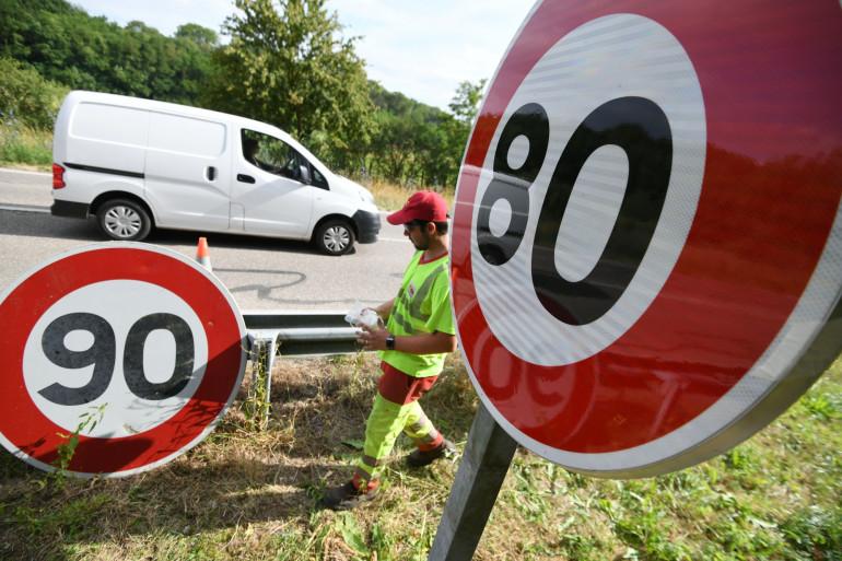 Réduction de la vitesse de 90 km/h à 80 km/h (illustration)