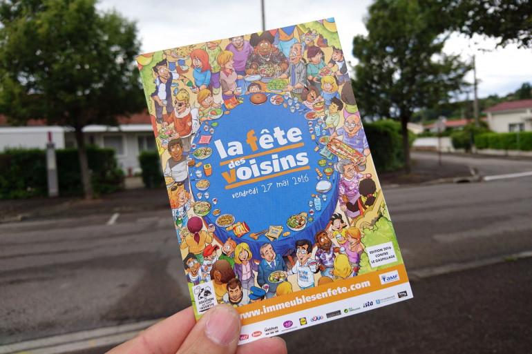 Une affiche pour la 17e édition de la Fête des voisins, qui a lieu le 27 mai 2016