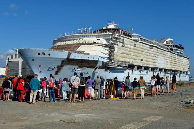 Le Harmony of the Seas, le plus grand paquebot du monde construit à Saint-Nazaire.