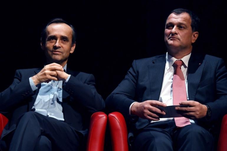 Louis Aliot (à droite) et Robert Ménard à Béziers, le 9 décembre 2015