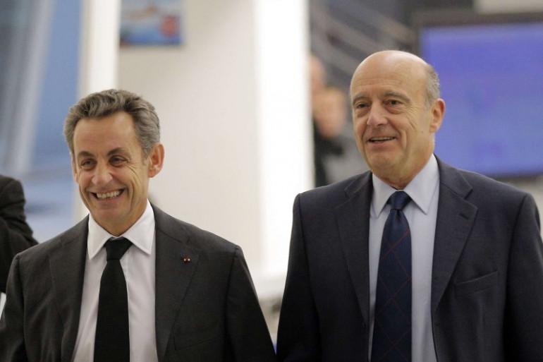 Nicolas Sarkozy et Alain Juppé, le 3 décembre 2014