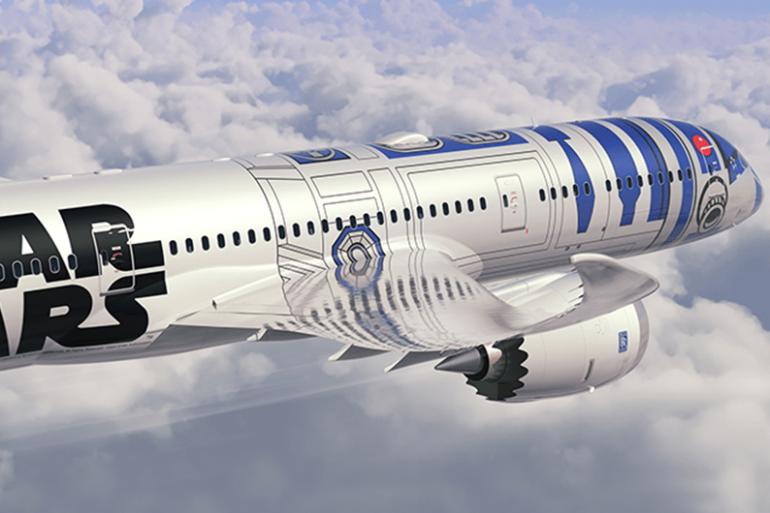 """La compagnie Nippon Airways a dévoilé un avion aux couleurs de """"Star Wars"""""""