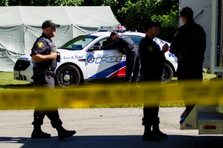 Des membres de la police canadienne à Toronto, en 2018 (illustration)