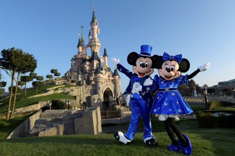 Mickey et Minnie lors du 25ème anniversaire de Disneyland Paris, le 16 mars 2017