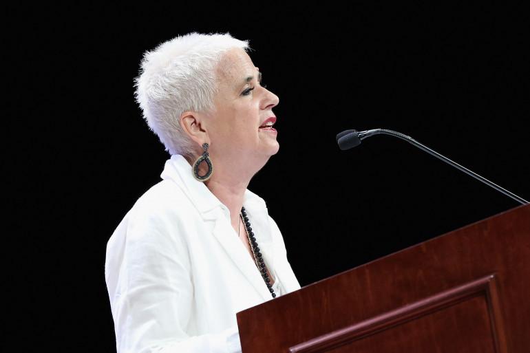 Eve Ensler, le 10 mai 2018 à New York