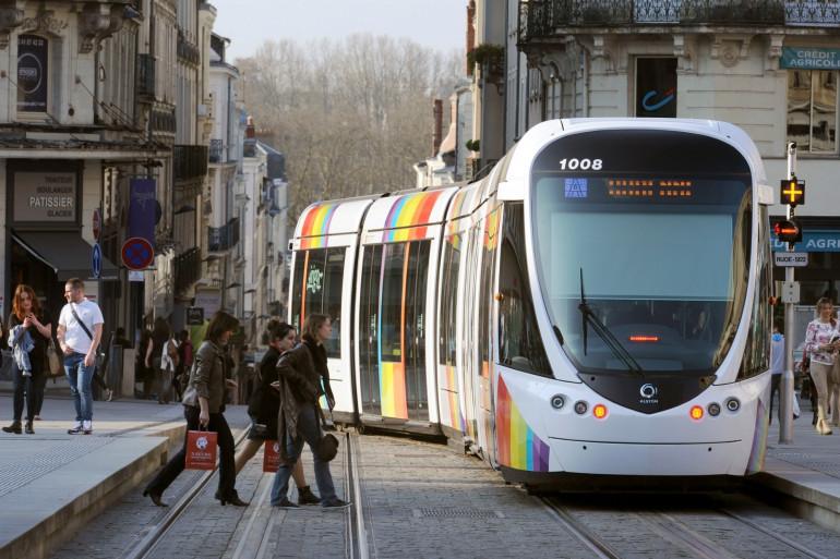 Le tramway à Angers, dans le Maine-et-Loire (illustration)