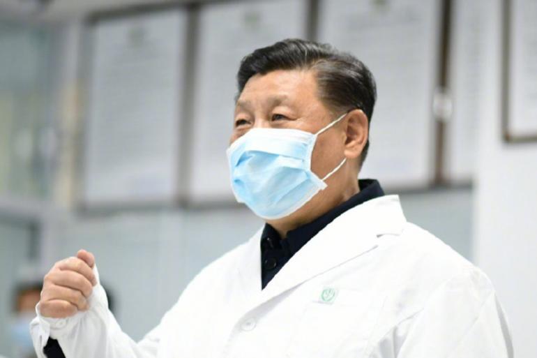 Le président chinois Xi Jinping est apparu lundi 10 février portant un masque de protection à Beijing.
