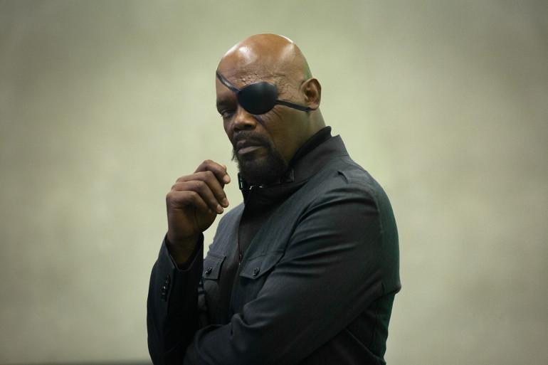 Samuel L. Jackson interprète Nick Fury dans les films Marvel depuis 2008