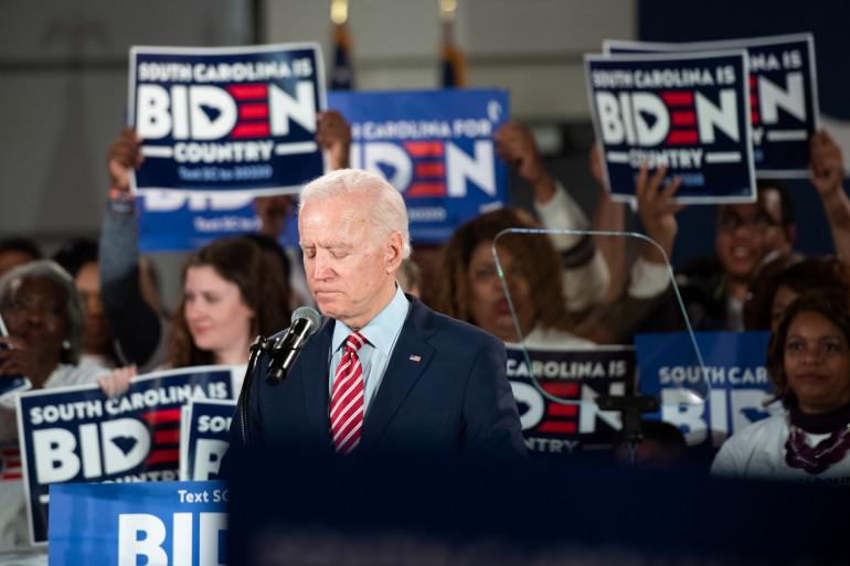 Joe Biden, le 11 février 2020 dans le New Hampshire