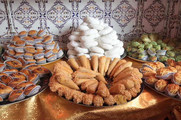 Des pâtisseries arabes préparées la veille du ramadan en France (illustration)