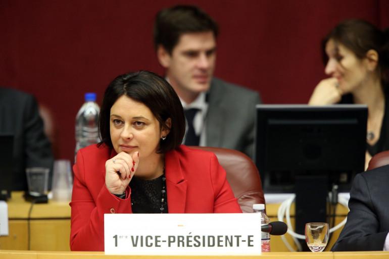 Sylvia Pinel au Conseil régional de Languedoc-Roussillon-Midi-Pyrénées le 1er avril 2016.