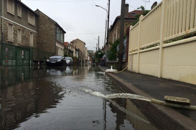 La ville de Viry-Châtillon sous les eaux.