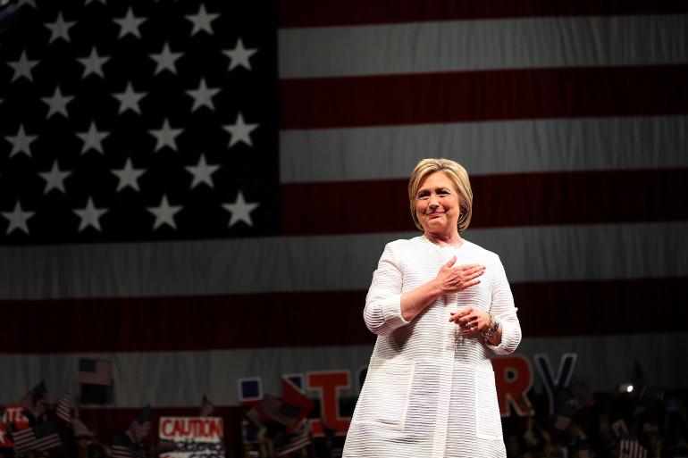 Hillary Clinton le 7 juin 2016 à Brooklyn