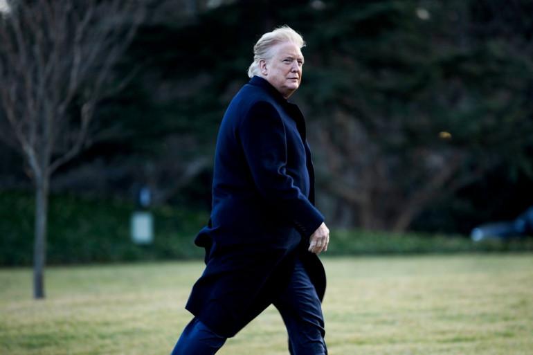 Donald Trump jeudi 7 février à la Maison Blanche