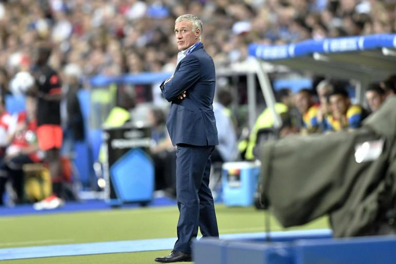 Le sélectionneur des Bleus Didier Deschamps vendredi 10 juin au Stade de France