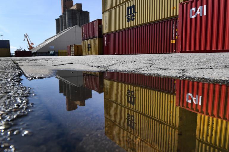 Des conteneurs dans le port de Brest (illustration)