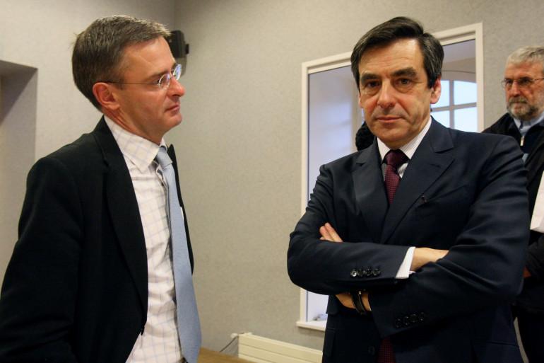 Marc Joulaud, le maire de Sablé-sur-Sarthe, avec François Fillon