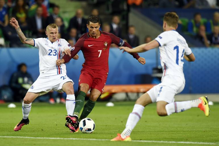 Cristiano Ronaldo n'a pas trouvé la faille contre l'Islande le 14 juin 2016