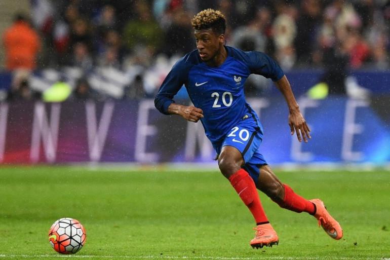 Kingsley Coman sous les couleurs de l'Équipe de France