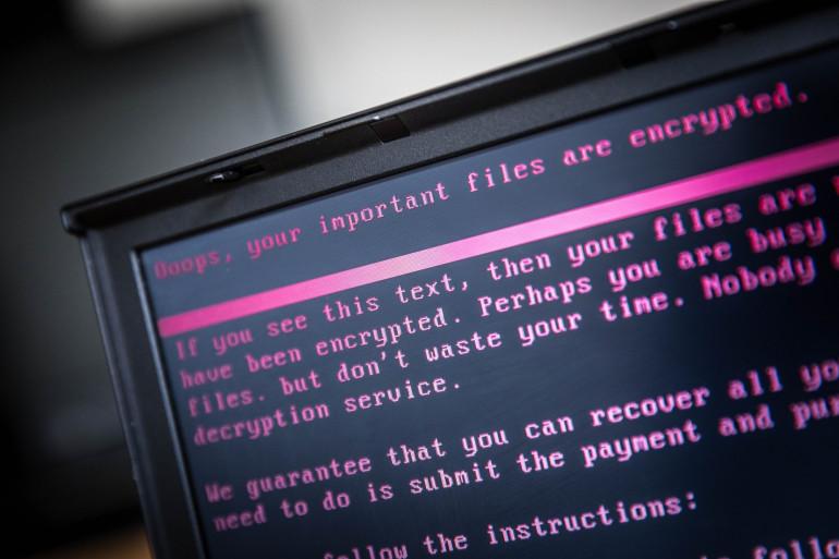Un ordinateur touché par une cyberattaque (illustration)