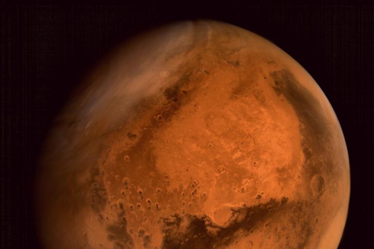 La planète Mars, capturée par le centre de contrôle de mission