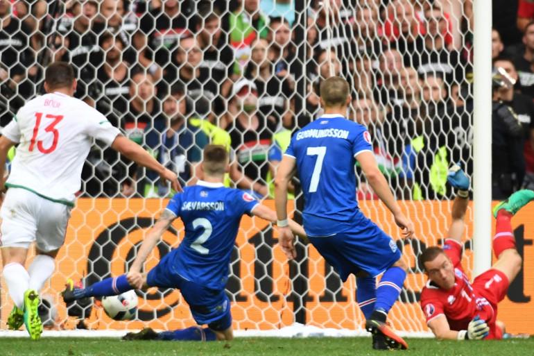 L'Islande et la Hongrie font match nul 1-1 le 18 juin 2016