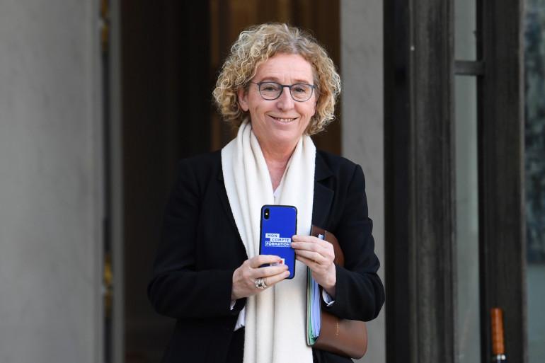 """La ministre du Travail Murielle Pénicaud présente l'application """"Mon compte professionnel de formation"""" (illustration)"""