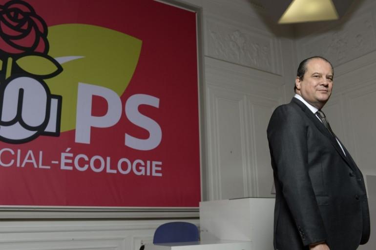 Jean-Christophe Cambadélis, premier sécretaire du Parti Socialiste, au siège du parti rue de Solférino