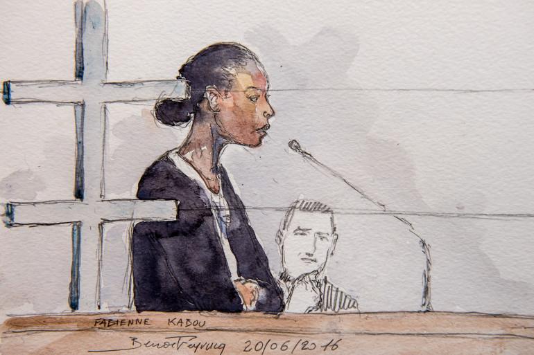 Fabienne Kabou, accusée d'avoir tué sa fille de 15 mois, devant la cour d'assises de Saint-Omer le 20 juin 2016