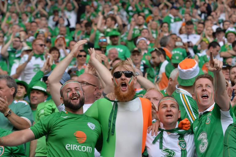 Les supporters irlandais à Bordeaux pour l'Euro 2016