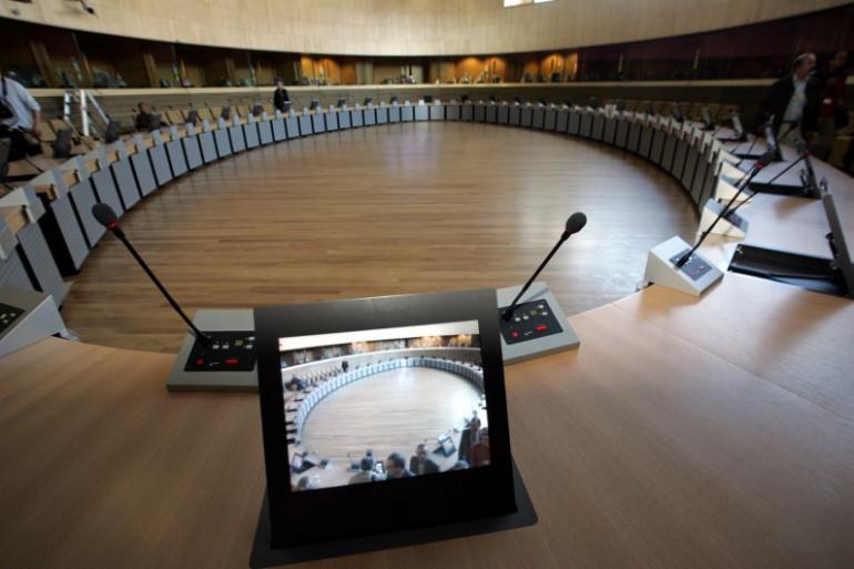 Une salle de réunion de la Commission européenne à Bruxelles (illustration)