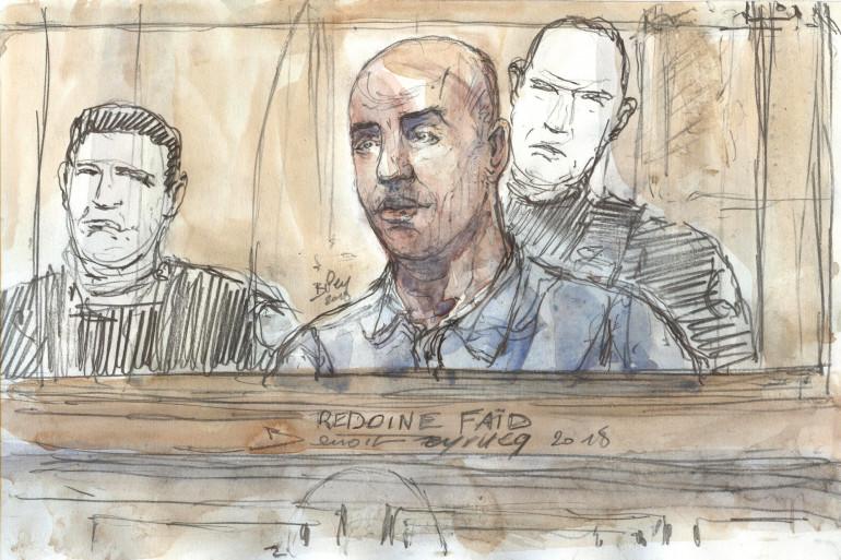 Rédoine Faïd à son procès en 2018