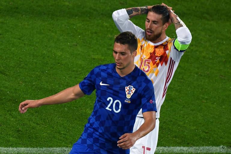 Sergio Ramos face à la Croatie, mardi 21 juin