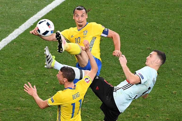 Zlatan Ibrahimovic pour son dernier match international face à la Belgique le 22 juin 2016