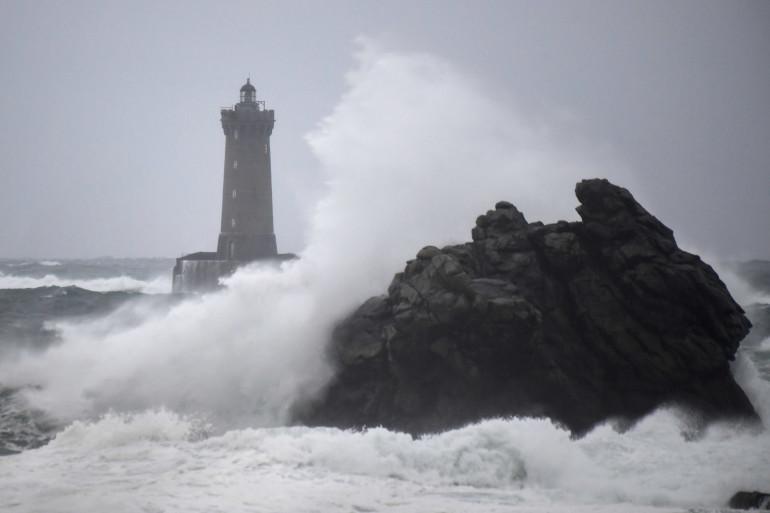 Le Finistère lors du passage de la tempête Amélie, samedi 3 novembre 2019.