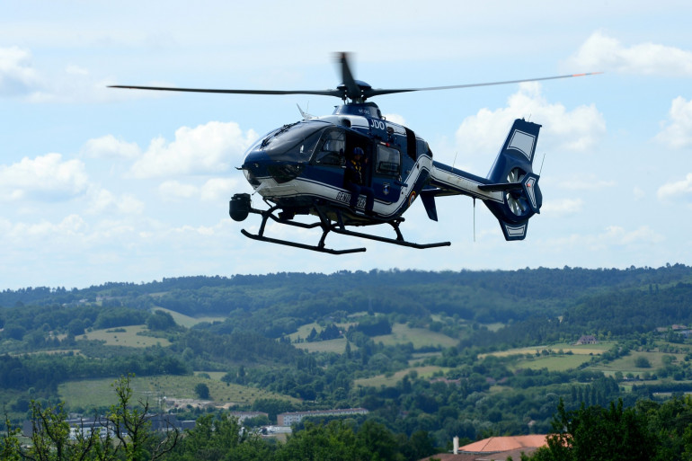 Un hélicoptère de la gendarmerie (Illustration)