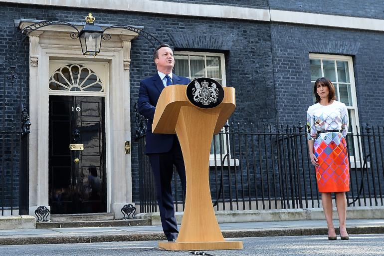 Le Premier ministre britannique David Cameron lors de l'annonce de sa démission le 24 juin après le Brexit