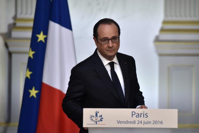 François Hollande le 24 juin à l'Élysée
