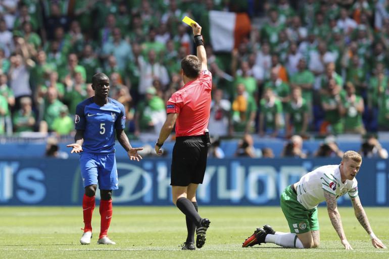 N'Golo Kanté a reçu un carton jaune contre l'Irlande, dimanche 26 juin