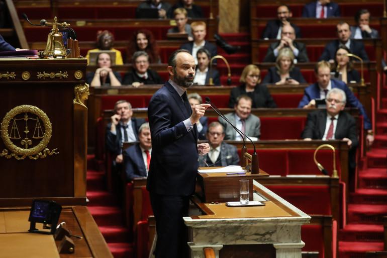 Le Premier ministre Édouard Philippe à l'Assemblée nationale le 3 mars 2019