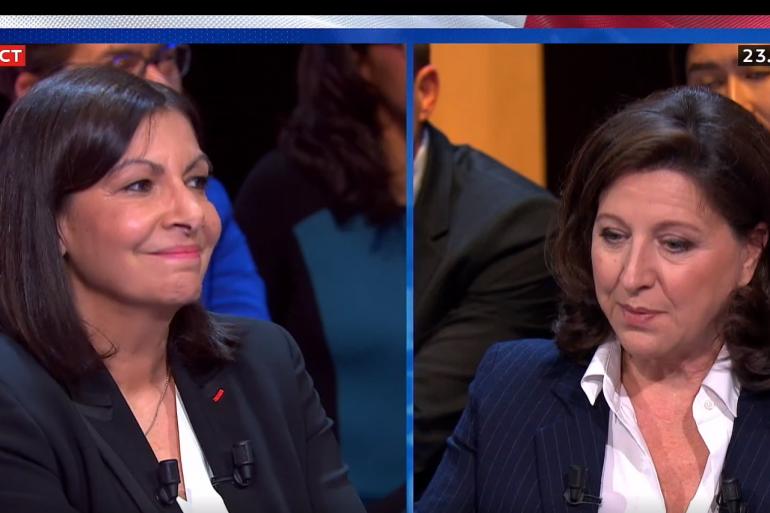 Anne Hidalgo et Agnès Buzyn, le 4 mars 2020