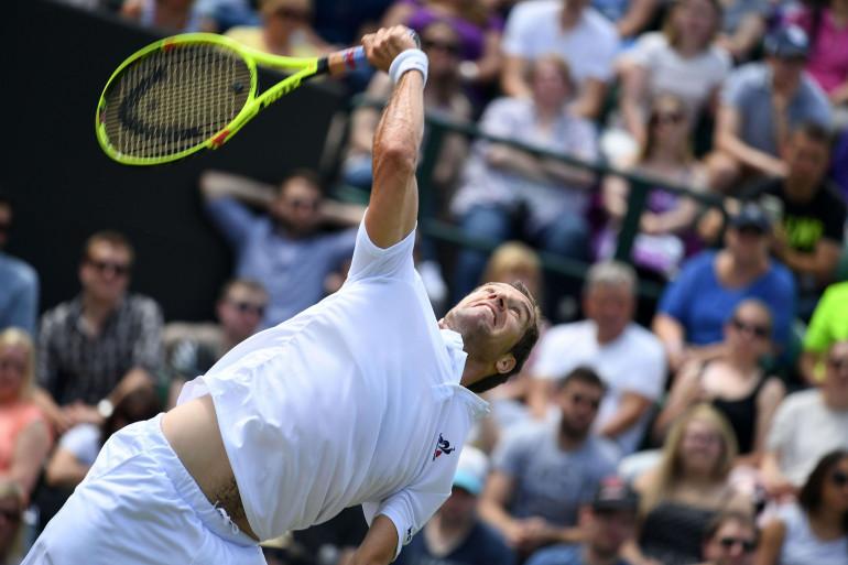 Richard Gasquet à Wimbledon en juin 2016